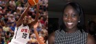 Tina Charles (Photos by Stephen Slade (left) and Sphilbrick (right))