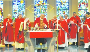 Bishop DiMarzio was the main celebrant of a Mass at St. Thomas More Church at St. John's University that opened the conference on religious liberty.