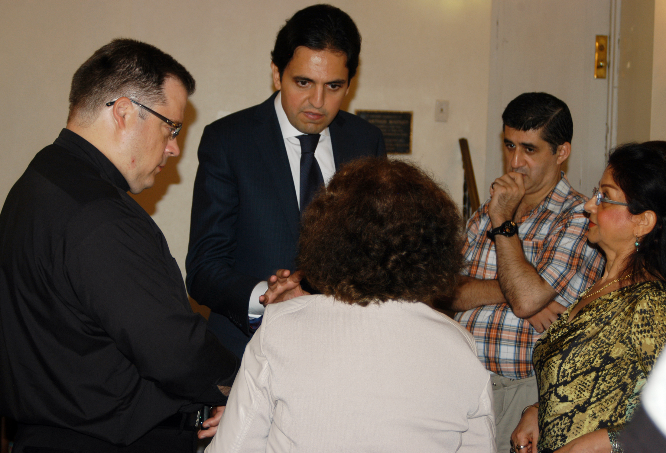 Majdi Ramadan, Consul General Of Lebanon, Met With Parishioners After Attending Mass At Our Lady