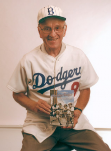 George Shuba in 2007 with his book