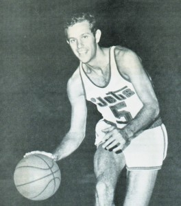 George Bruns, pictured above with the Allentown Jets of the Eastern League, played 13 games with the ABA's New York Nets in the spring of 1973. (Photo courtesy George Bruns)