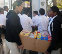 Last fall, students participated in a Hurricane Sandy relief effort as part of their community service.