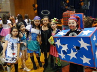 Students enjoy dressing up for the school Halloween party last fall.