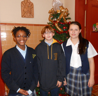 Among the many annual events that keep the school building abuzz with activity is the school Spelling Bee. Above, this year's proud winners.