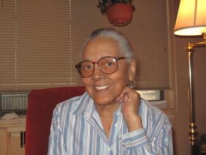Sarah Keys Evans, 59 years later, in her Brooklyn home.