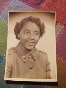 A photo of Sarah Keys during basic training. She stood up for her civil rights during a 1954 bus trip to her North Carolina home.