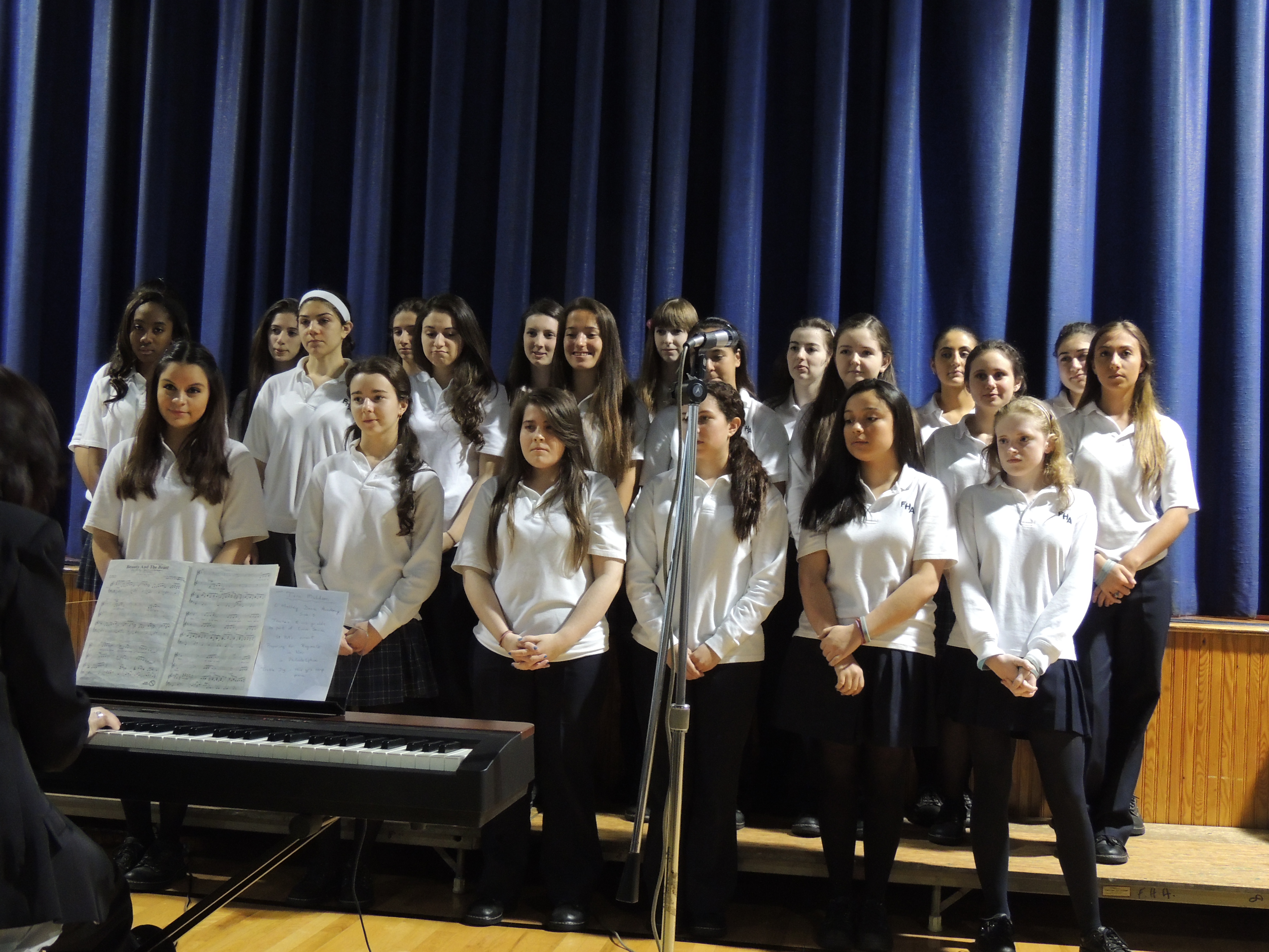 Fontbonne's Vocal Ensemble delights the audience with highlights from the musical, Phanto