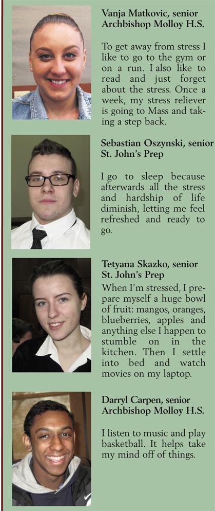 Youth Views: Vanja Matkovic, senior, Archbishop Molloy H.S.; Sebastian Oszynski, senior, St. John's Prep; Tetyana Skazko, senior, St. John's Prep; Darryl Carpen, senior, Archbishop Molloy H.S.