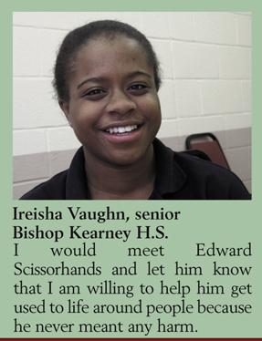 Youth Views: Ireisha Vaughn, senior Bishop Kearney H.S.