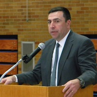 New Molloy basketball coach Mike McCleary (Photo by Jim Mancari)