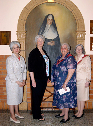 Representing over 100 years of service to Catherine McAuley High School, are, from left, Josephine Valente, co-principal; Sister Rosemary Maguire, R.S.M., finance director; Sister Margaret Dempsey, R.S.M., president; and Margaret Lake, co-principal.