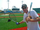Brooklyn Cyclones' manager Rich Donnelly has as much passion for raquetball as he does baseball, the sport which he has coached professionally for nearly 40 years. (Photo by Jim Mancari)