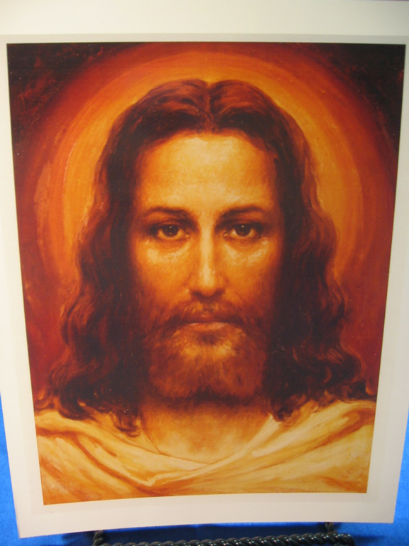 """""""The Face of Christ"""" based on the Shroud of Turin; a sketch from the prayer book"""