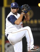 John Mincone delivers a pitch for the Brooklyn Cyclones. (Photo courtesy of Brooklyn Cyclones)