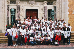 In August, 70 young people from Brooklyn and Queens parishes participated in the 23rd annual Kujenga Youth Leadership Retreat, sponsored by the Vicariate of Black Catholic Concerns. Above, participants are pictured with retired Auxiliary Bishop Guy Sansaricq, diocesan vicar of Black Catholic Concerns.