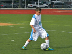 Danny Goncalves shows off his footwork (Photo by Jim Mancari)