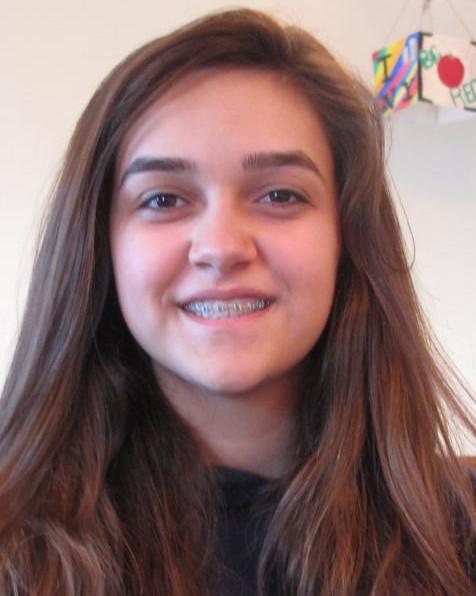 Isabela Adsvar, eighth grade Genesis at Xaverian