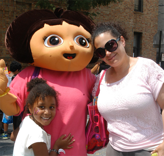 Marlee and Maria with Dora