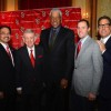 A Night with St. John's Basketball featured, from left, Conrado Gempesaw, St. John's president; legendary coach Lou Carnesecca; Julius Erving; Joe Tartamella, St. John's women's basketball coach; and Steve Lavin, St. John's men's basketball coach. (Photo courtesy St. John's Athletic Communications)