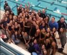 Archbishop Molloy girls' varsity swim team (Photo courtesy Archbishop Molloy H.S.)