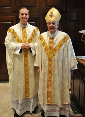 Father Peter Purpura was installed by Bishop Nicholas DiMarzio as the rector of St. James Cathedral-Basilica.