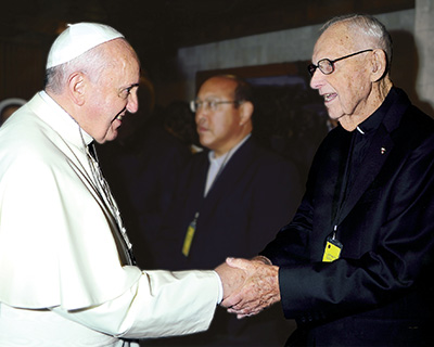Father James Gilligan and Pope Francis