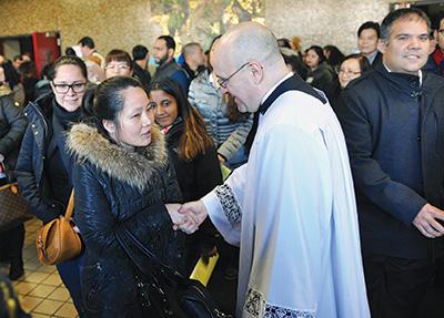 Father Massa congratulated catechumens
