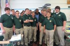 Kevin Ogletree visits Holy Cross High School