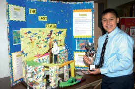 "Jonathan Ruano copped second place at a recent Invention Convention for his creation, ""The Fast Track Abstract."""