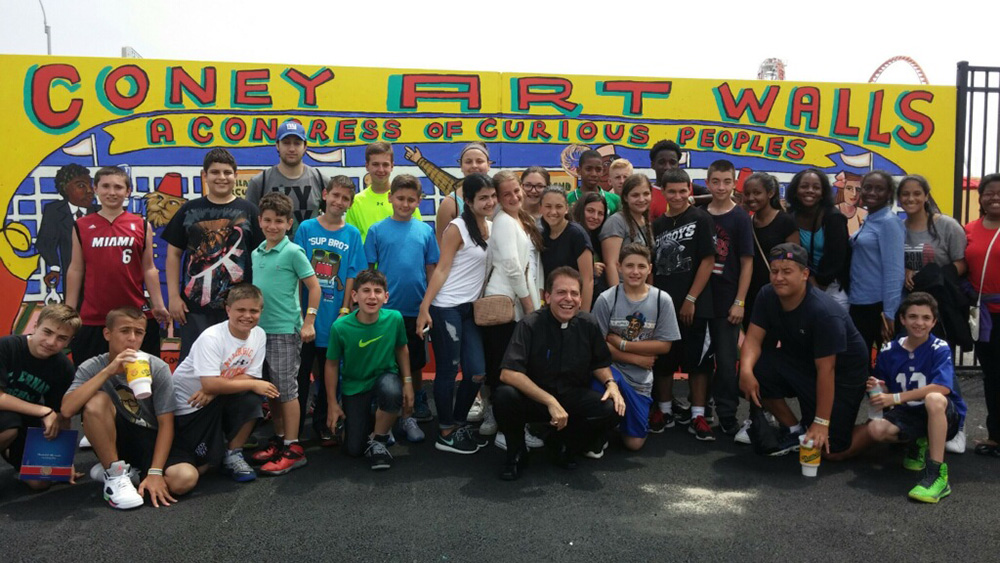 Msgr. Jamie Gigantiello at Coney Island