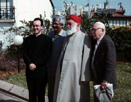 Then-Father Massa is seen with other religious leaders on an interfaith pilgrimage to the Holy Land in 1990.