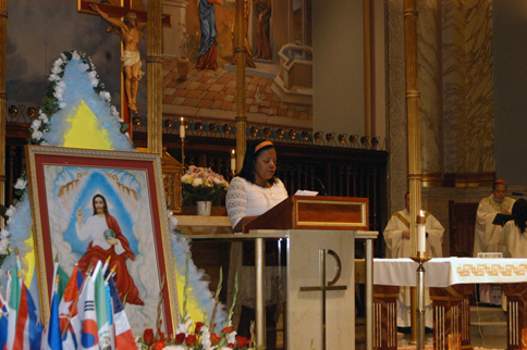 Parishioners read the prayer of the faithful in 10 native languages. After a Mass celebrating God's paternity, it was explained that if the image of God the Father looks like Jesus, it is because Jesus is the living image of God.