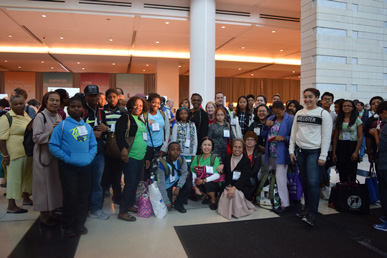 The diocese's School of Evangelization took about 200 parishioners to the World Meeting of Families on Sept. 23. Pilgrims from Our Lady of Miracles, Canarsie and Holy Family-St. Thomas Aquinas, Park Slope, pose before leaving Philadelphia.