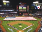 The scene before Game 3 of the World Series features Billy Joel singing the National Anthem. The New York Mets reached the fall classic for the first time since 2000. Photo © Jim Mancari