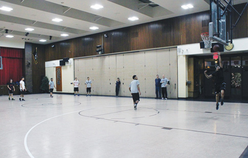St. Dominic's parish in Bensonhurst opened its doors to serve at the home basketball court for Brooklyn Studio Secondary School.