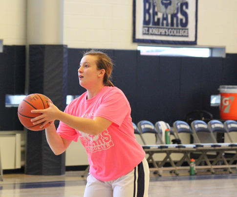 Kristin Ferrigno is a junior forward at St. Joseph's College who participated in the school's Play4Kay.