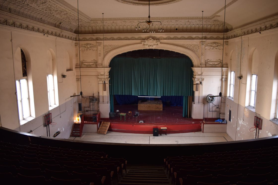 The McCaddin Opera House that will be restored and used for evangelization purposes.