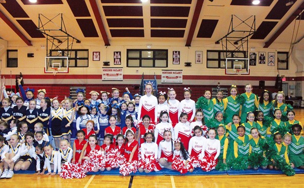 Five local parishes participated in the first-ever CYO Diocese of Brooklyn Cheerleading Showcase on Feb. 27.