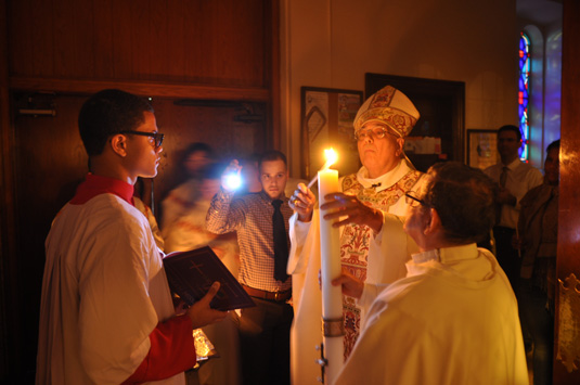 lighting-Paschal-candle
