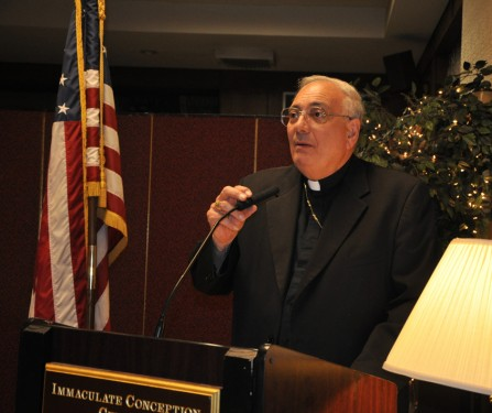 Bishop DiMarzio addressed the meeting that was chaired by Msgr. Jamie Gigantiello.