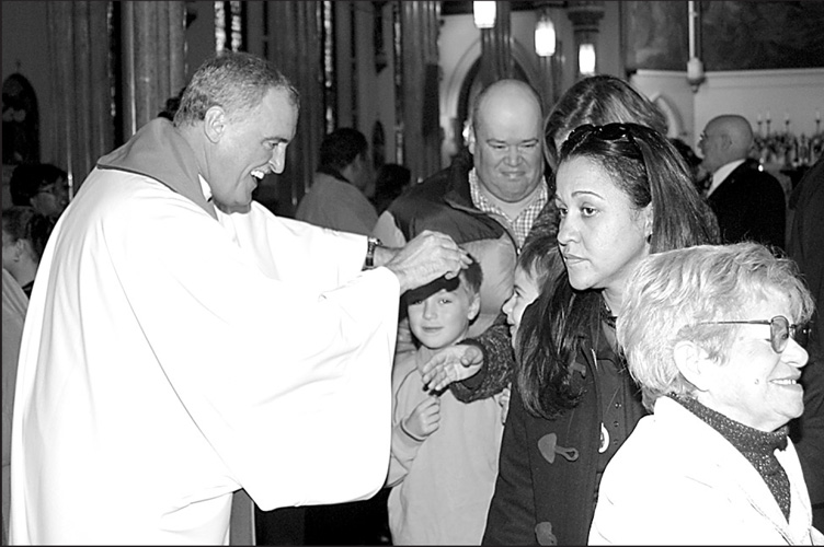 Then-Father Neil Tiedemann was pastor of Visitation parish, Red Hook, when it celebrated its 150th anniversary in 2004. (Photo: Linda Busetti)