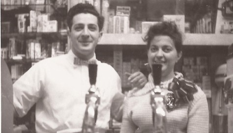Joe and Flo Leopoldi at their candy shop before they opened the Leopoldi Hardware store in Park Slope 50 years ago. Joe wanted to be able to spend more time with his family by taking Sundays off, which was not feasible in the candy shop