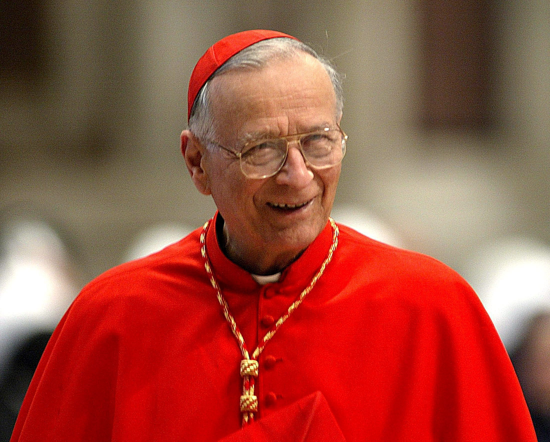 Italian Cardinal Silvano Piovanelli, the retired archbishop of Florence, died July 9 at the age of 92. He is pictured during a Mass in St. Peter's Basilica at the Vatican in this April 10, 2005, file photo. (CNS photo/Giuseppe Giglia, EPA) See OBIT-PIOVANELLI July 11, 2016.