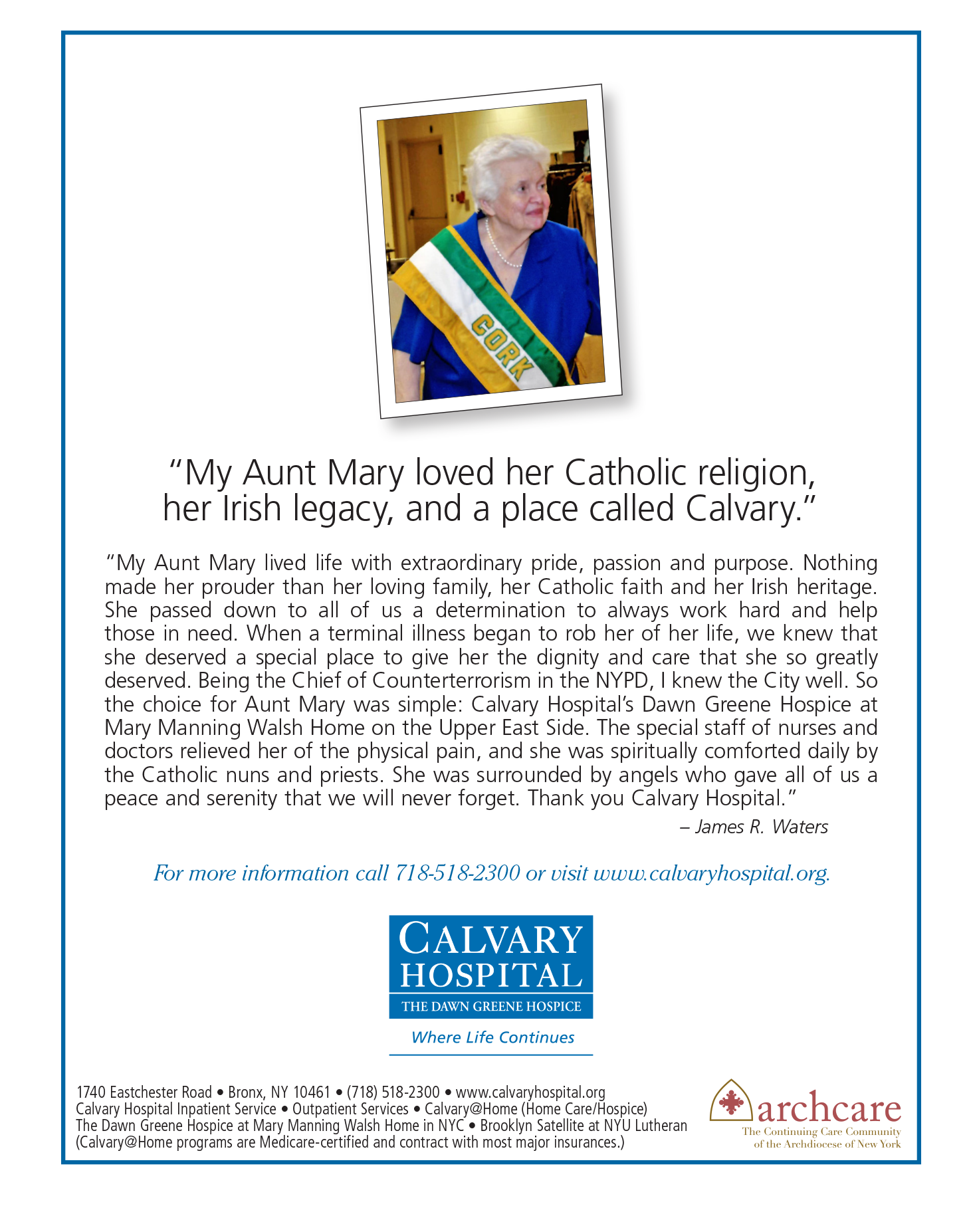 Calvary Hospital: Signature Care and Services in Brooklyn - The Tablet