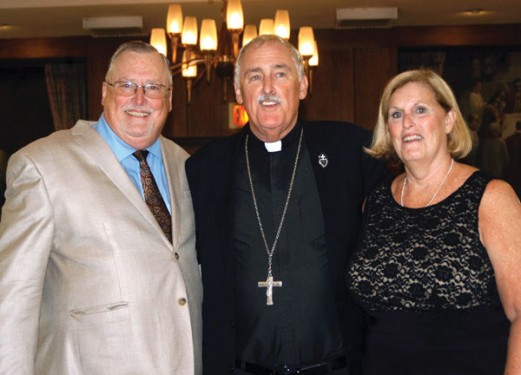 Bishop Tiedemann with his siblings, Joseph and Mary Lou Kelly (Photo: Marie Elena Giossi)