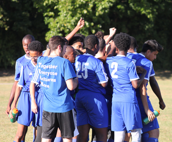 The boys soccer team at Cristo Rey Brooklyn H.S. has joined the ranks of the local CHSAA. The school is transitioning 11 of its sports teams to the league. Photos © Jim Mancari