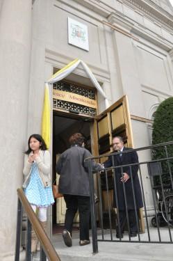 greeter-at-holy-door