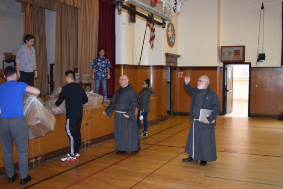 Friars say hello