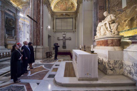 POPE TRUMP MEETING VATICAN