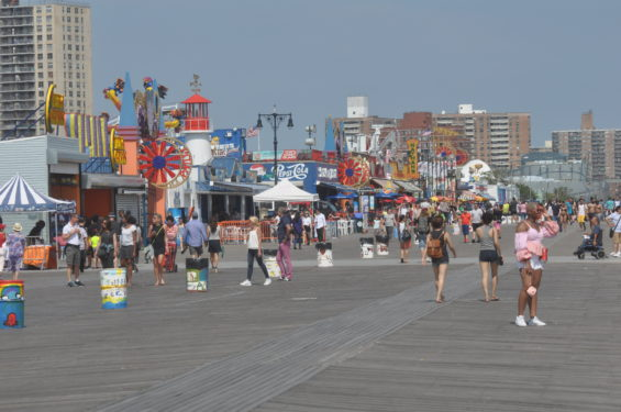 Coney Island's historic Rigelman Boardwalk has been attracting visitors for more than 100 years.